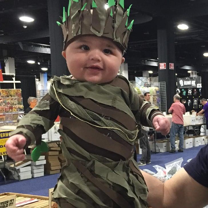 baby groot costume at boston comic con popsugar tech