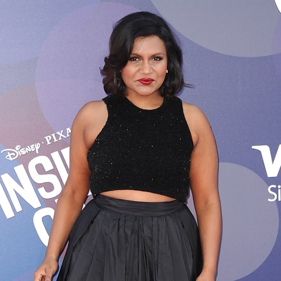 Mindy Kaling's Black Crop Top and Skirt