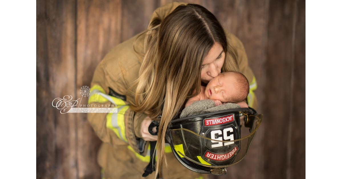 cf0b894ef Newborn Photos With Firefighter Mom and Police Officer Dad ...