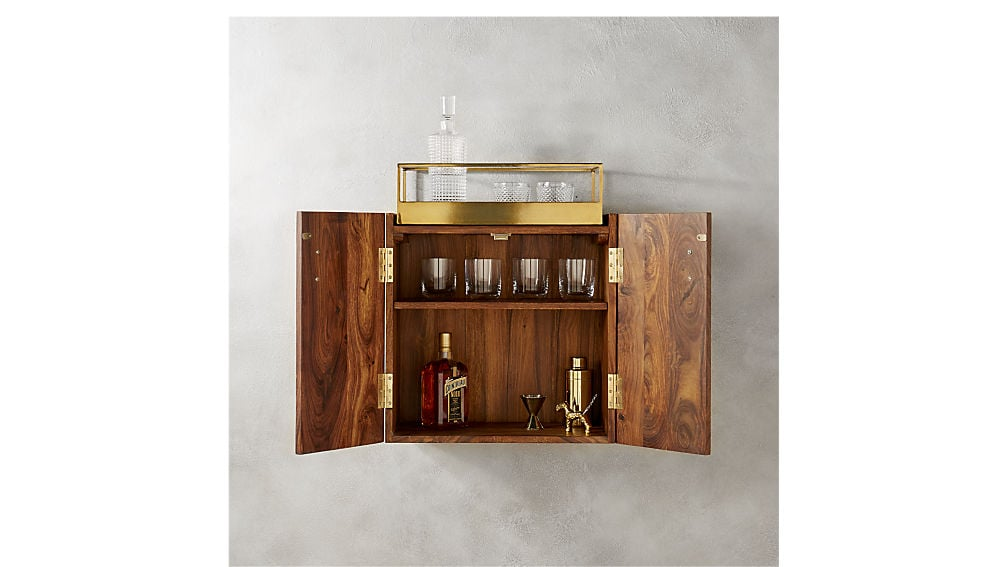 Charmant Wall Mounted Bar Cabinet