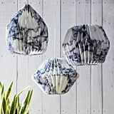 Graham and Green Marbled Paper Lightshades