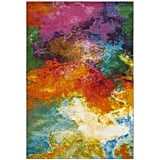 The design on the Safavieh Watercolor Allison Abstract Colorful Area Rug ($29-$364) is what you might imagine Claude Monet's paint palette to look like. Though it's packed with bright hues, they melt together nicely to ensure the rug isn't too over-the-top.
