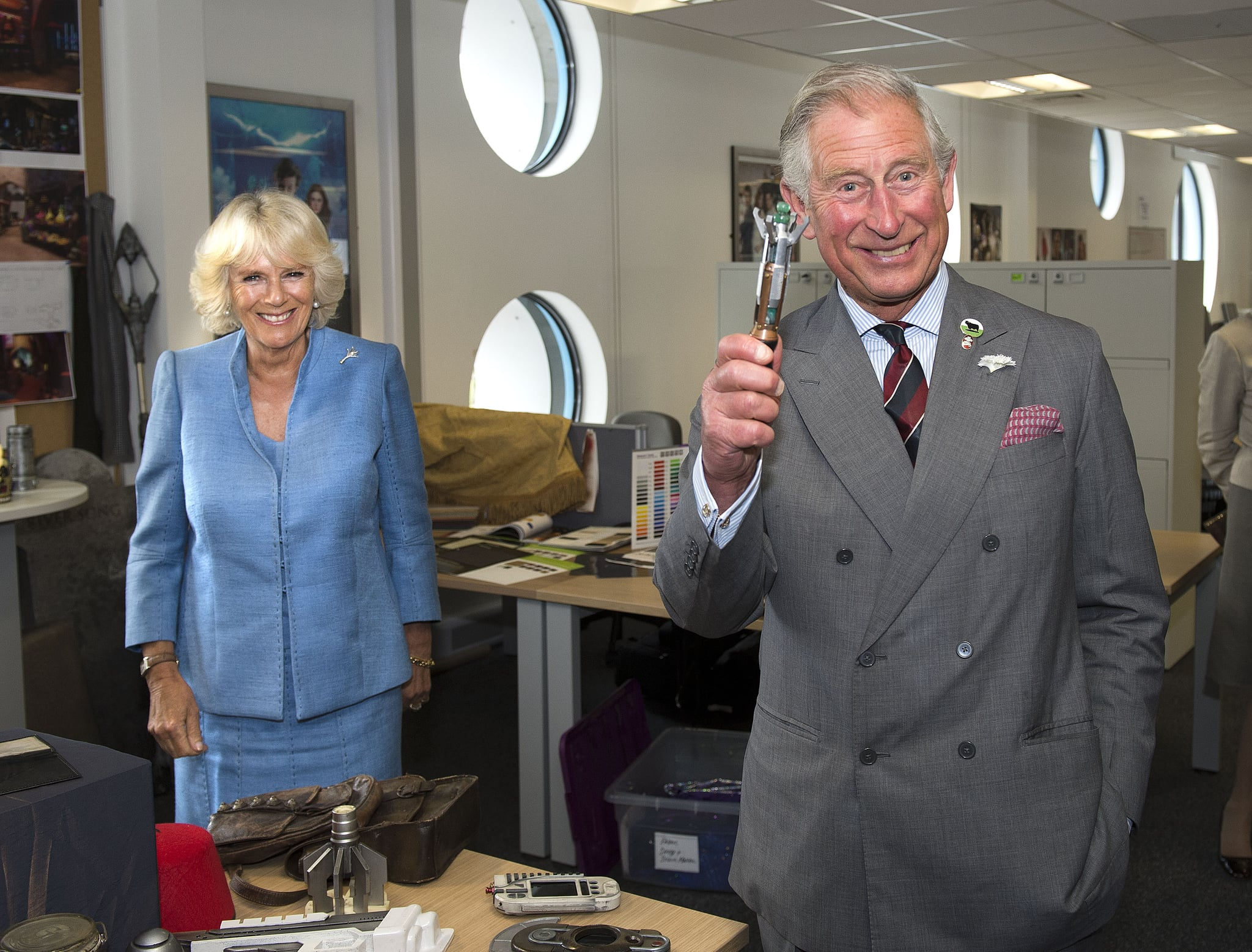 Prince Charles received a sonic screwdriver of his own.