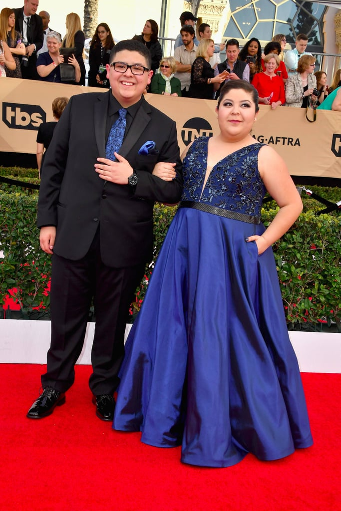 Rico Rodriguez and His Sister at the 2017 SAG Awards