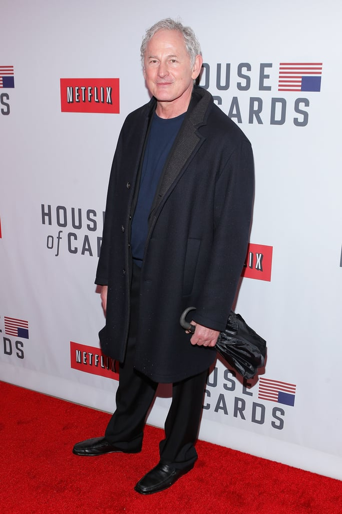 Victor Garber carried an umbrella on the red carpet in NYC.