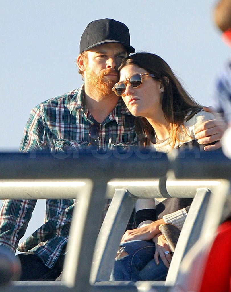 Michael C. Hall and Jennifer Carpenter grabbed a seat to watch the sunset on the beach in Venice, CA yesterday. The duo looked cozy despite their divorce being finalized in December. This isn't the first time Michael and Jennifer have been spotted together following their separation since they were seen on a coffee date last month. They also sat together at the SAG Awards, where their TV show, Dexter, was up for best drama and Michael was nominated for best actor. Neither Michael nor the Showtime series went home with any statues, but it looked like the couple had a fun night. Both Jennifer and Michael will be back on the small screen soon now that Dexter has been renewed for a seventh and eighth season.