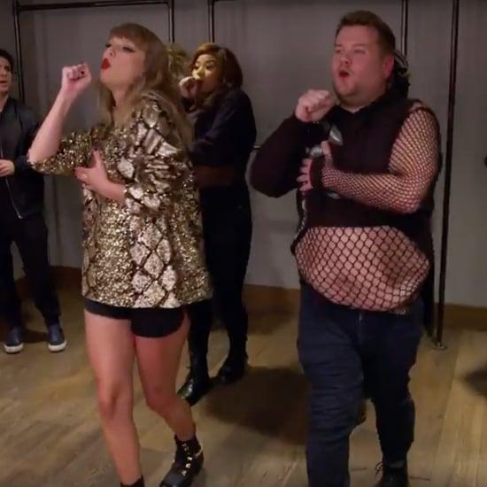 James Corden as Taylor Swift's Backup Dancer Video