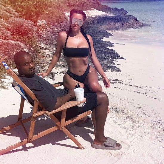 Kim Kardashian Black Bikini August 2018