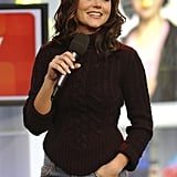 Tiffani Thiessen stopped by TRL in 2003.
