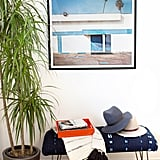 Art work, potted plants, and decor, such as throws, trays, and framed artwork, put give the room a cosy, polished look.