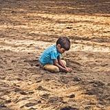 Build a sand castle.