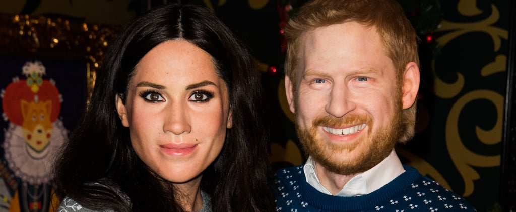 Christmas Themed Prince Harry and Meghan Markle Wax Figures