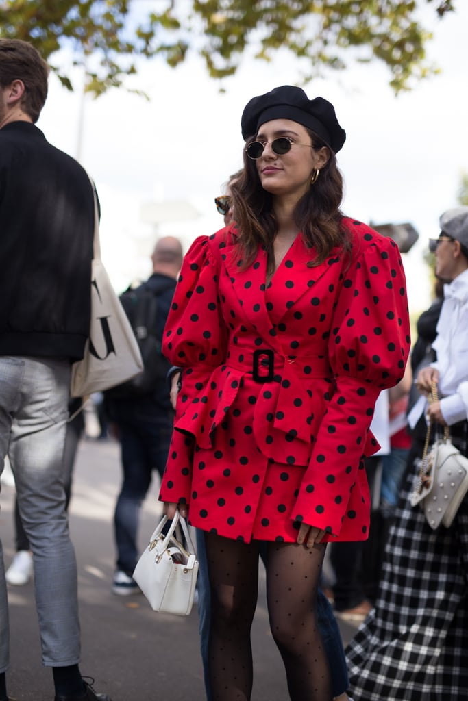 Play It Up in Parisian Fashion With a Beret and Tights