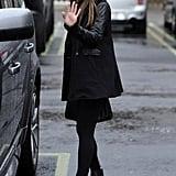 Lea Michele and Heather Morris Reunite in the Rain