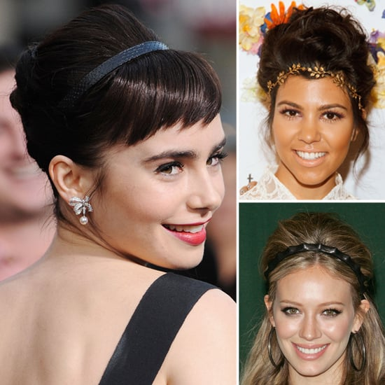 Volumized Updos Topped Off With Headbands