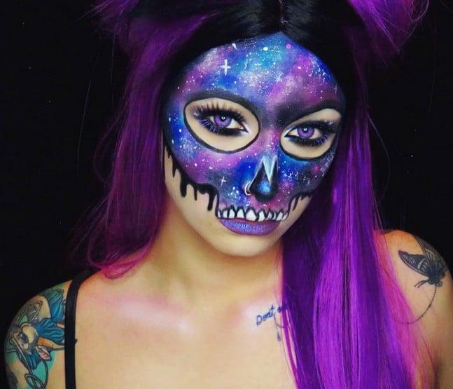 Galaxy Halloween Makeup Ideas
