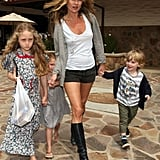 Kate Moss Takes Lila Grace And Friends Out For Food In Malibu