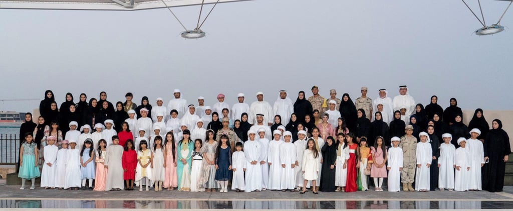 Sheikh Mohammed bin Zayed Welcomed the Children of Martyrs and the Photos Are Too Cute