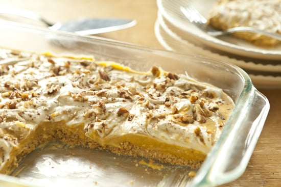 Pumpkin Pie Cheesecake With Pretzel Crust