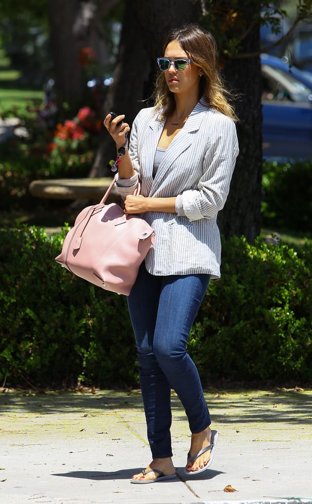 Jessica Alba Carrying Louis Vuitton