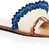 Loeffler Randall Women's Birdie Ruffle Slide Sandals