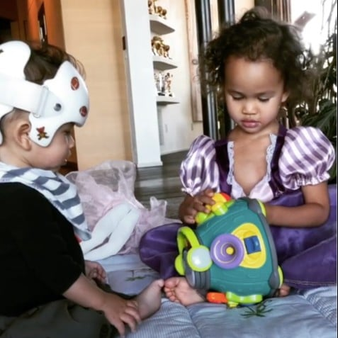 Chrissy Teigen Shares Video of Kids Playing Together