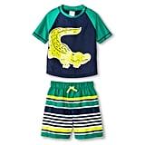 Alligator Rash Guard Swimsuit Set