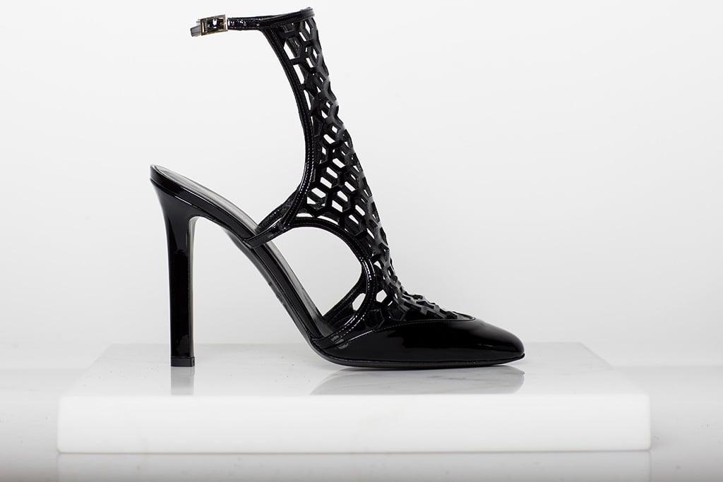 Secret Place Patent Mesh Sandal Bootie in Black Photo courtesy of Tamara Mellon