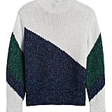 Colour-Block Cropped Sweater
