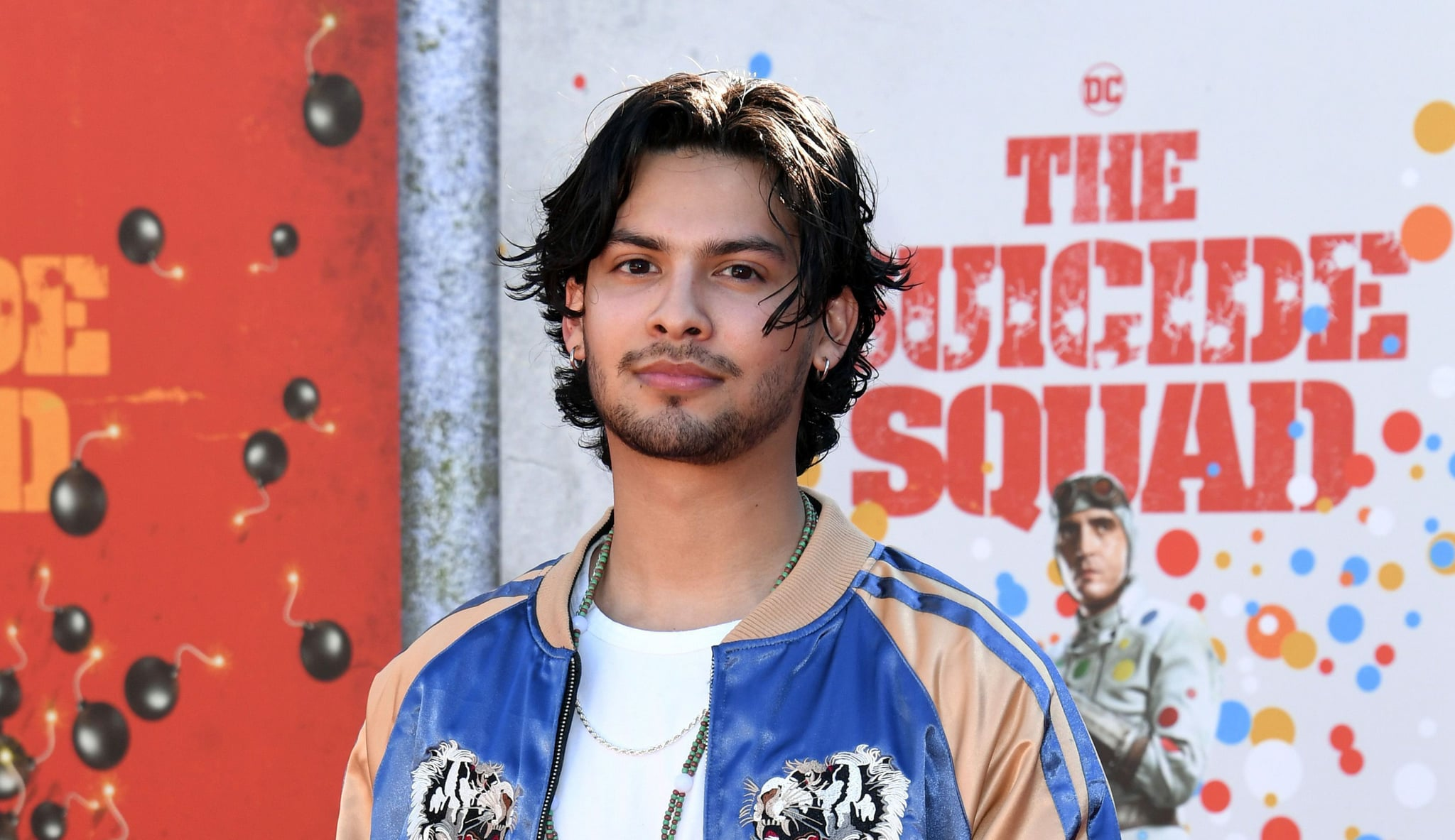 LOS ANGELES, CALIFORNIA - AUGUST 02: Xolo Maridueña attends the Warner Bros. premiere of