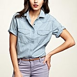 Trust us, a chambray shirt will go with everything and look crisp, chic, and effortless no matter what.  Gap 1969 Short-Sleeve Chambray Shirt ($45)