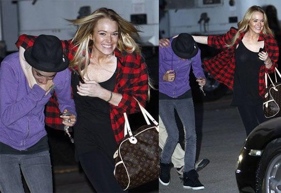 Photos of Lindsay Lohan With Her Arm Around Samantha Ronson