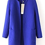 Stand Collar Pockets Cashmere Pink Coat ($261)