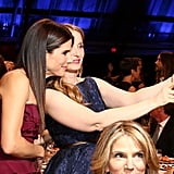 Sandra Bullock and Julie Delpy took a selfie at the Critics' Choice Awards.
