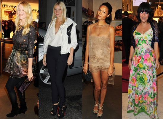 Pictures of Lily Allen, Gwyneth Paltrow, Claudia Schiffer and Thandie Newton at Fashion's Night Out in London