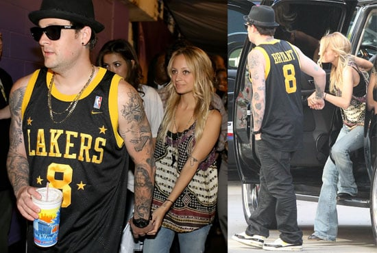 Photos of Nicole Richie and Joel Madden at the Lakers Game
