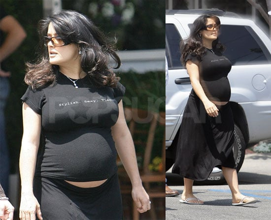 Salma is Stylish, Sexy, and Very, Very Pregnant