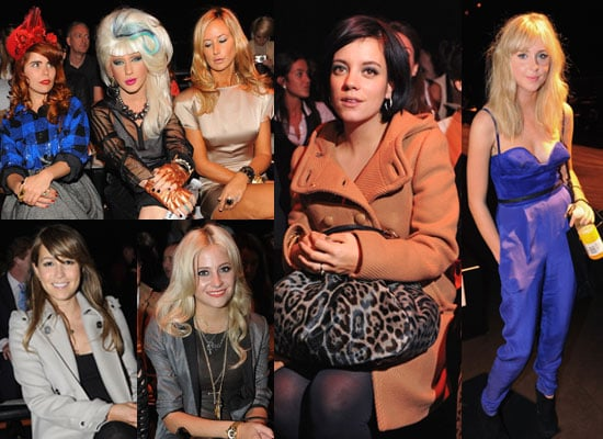 Pictures of Celebrities at London Fashion Week Front Rows Including Lily Allen, Diana Vickers, Rachel Stevens and Pixie Lott