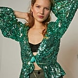 Ariel: For Love & Lemons Madeleine Sequin Top