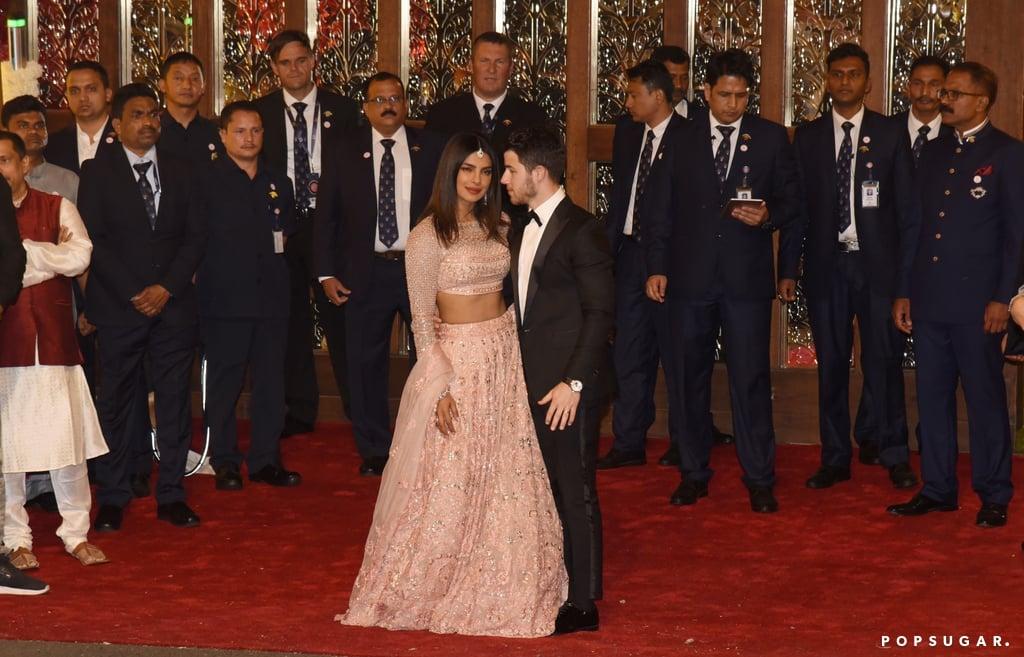 Nick Jonas and Priyanka Chopra at Isha Ambani's Wedding