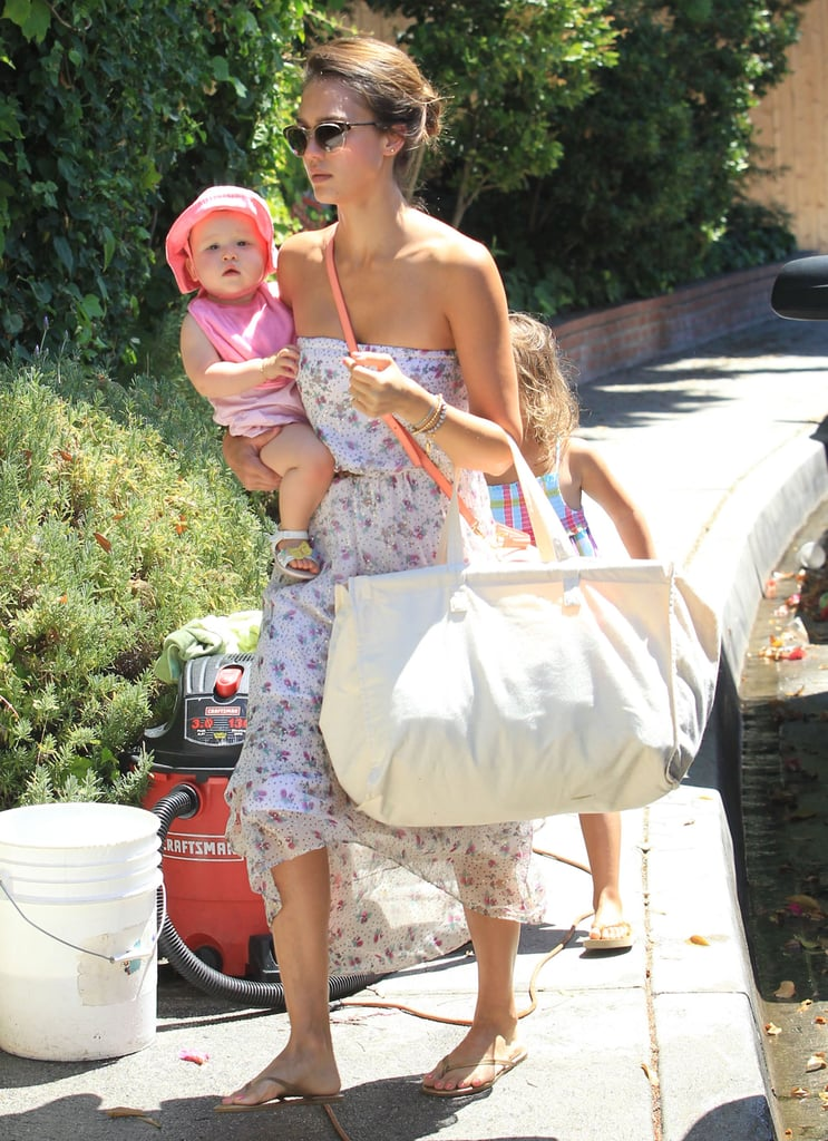 Jessica Alba Mixes Pool and Park Days During a Family Weekend