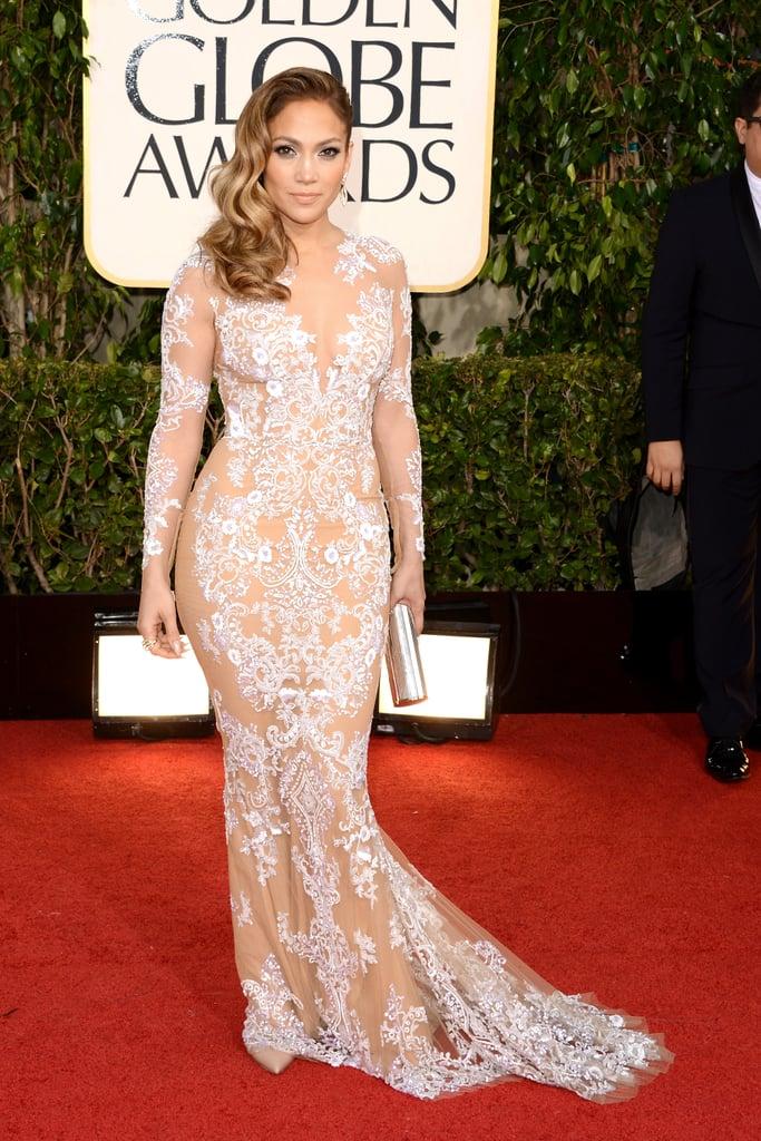 Jennifer Lopez Wearing Zuhair Murad to the 2013 Golden Globe Awards
