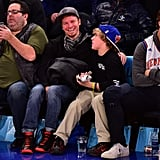 Brian Littrell and Son at Knicks Game January 2016