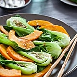 Steamed Pumpkin and Bok Choy With Ginger Sesame Sauce