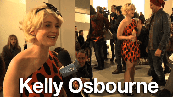 Kelly Osbourne at Jeremy Scott: Fall 2010 New York Fashion Week