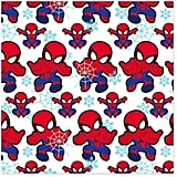 Marvel Spider-Man, Webs, and Snowflakes Christmas Wrapping Paper Roll
