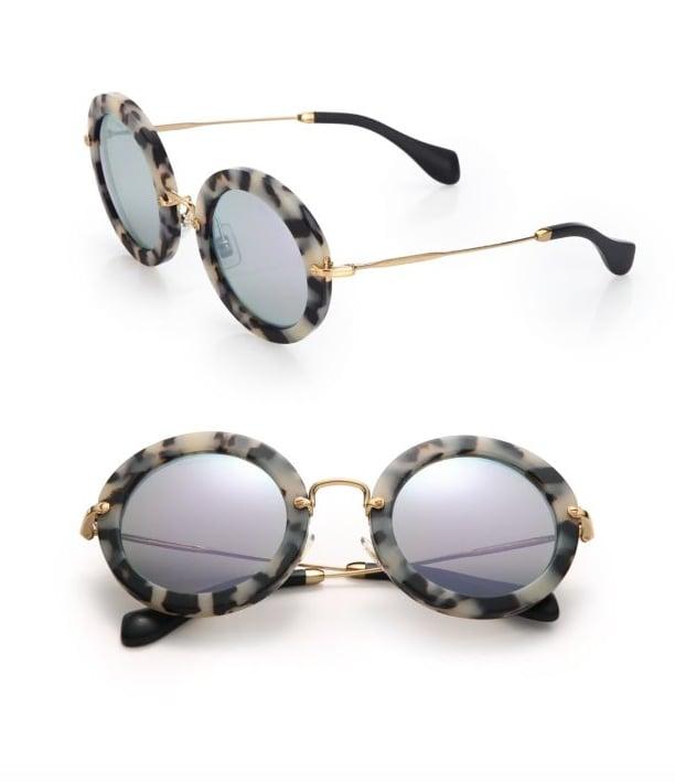 Miu Miu 49MM Round Sunglasses ($390)