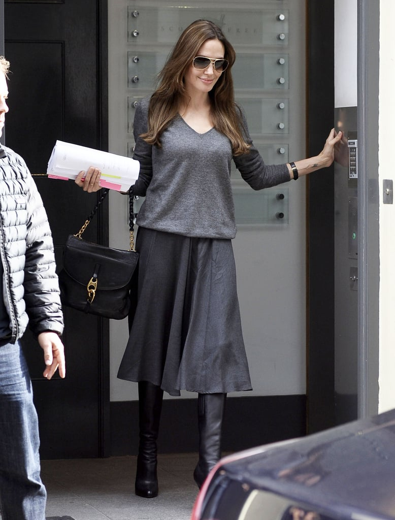 Angelina Jolie stepped out solo in London today.