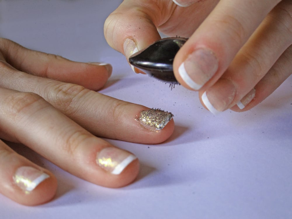 Step five: use the magnet | How to Make Your Own Magnetic Nail ...