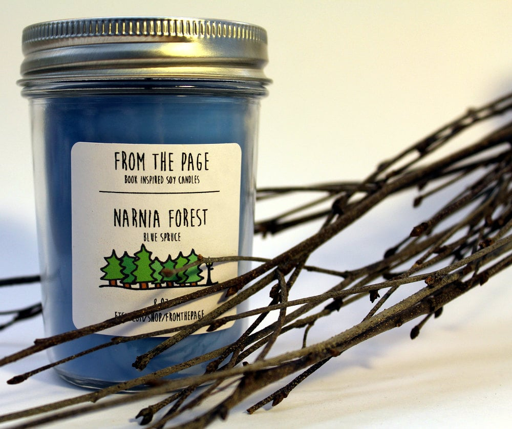 Narnia Forest candle ($11) with pine and cedarwood notes